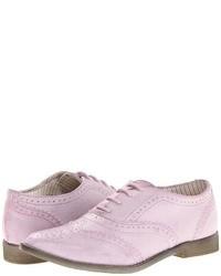 Chaussures brogues en cuir violet clair
