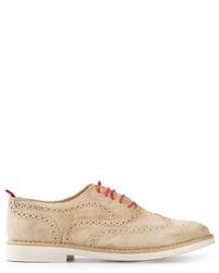Chaussures brogues en daim beiges