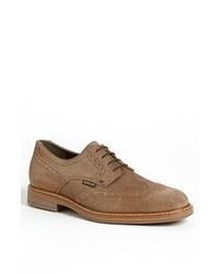 Chaussures brogues en daim marron clair