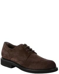Chaussures brogues en daim marron foncé