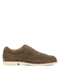 Chaussures brogues en daim marron Hogan
