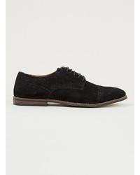 Chaussures brogues en daim noires