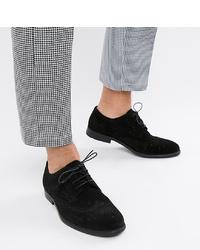 Chaussures brogues en daim noires ASOS DESIGN