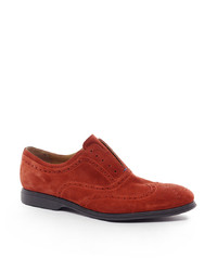 Chaussures brogues en daim rouges Ps By Paul Smith