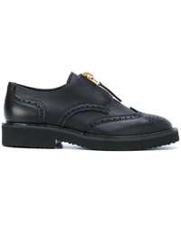 Chaussures brogues noires Giuseppe Zanotti Design
