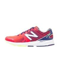 Chaussures de sport à rayures horizontales fuchsia New Balance