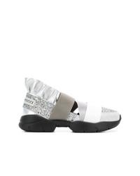 Chaussures de sport argentées Emilio Pucci