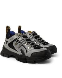 Chaussures de sport argentées Gucci