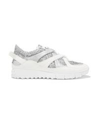 Chaussures de sport argentées Jimmy Choo