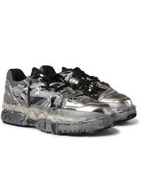 Chaussures de sport argentées Maison Margiela
