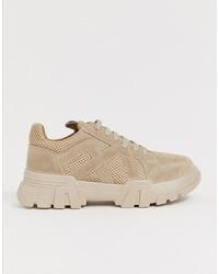 Chaussures de sport beiges ASOS DESIGN
