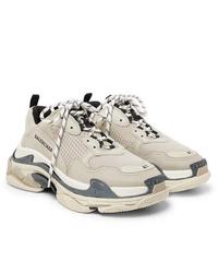 Chaussures de sport beiges Balenciaga
