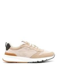 Chaussures de sport beiges Brunello Cucinelli