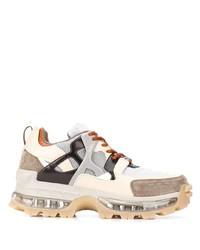 Chaussures de sport beiges Emporio Armani