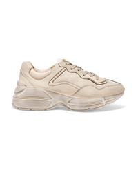 Chaussures de sport beiges Gucci