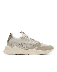 Chaussures de sport beiges Moncler
