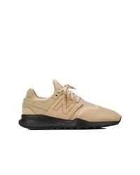 Chaussures de sport beiges New Balance