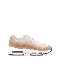 Chaussures de sport beiges Nike
