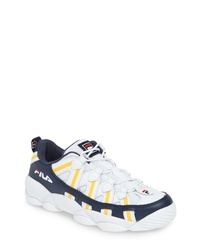 Chaussures de sport blanc et bleu marine