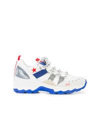 Chaussures de sport blanc et bleu