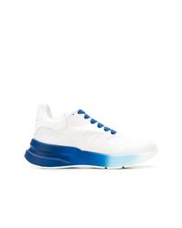 Chaussures de sport blanc et bleu Alexander McQueen