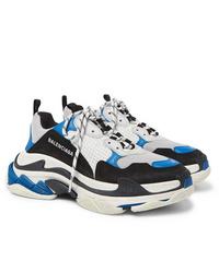 Chaussures de sport blanc et bleu Balenciaga