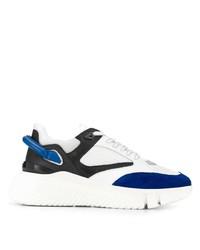 Chaussures de sport blanc et bleu Buscemi