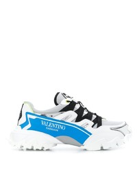 Chaussures de sport blanc et bleu Valentino