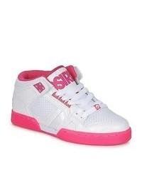 Chaussures de sport blanc et rose