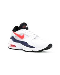Chaussures de sport blanc et rouge et bleu marine