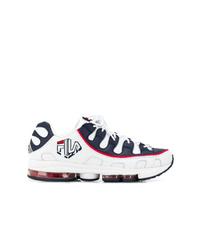 Chaussures de sport blanc et rouge et bleu marine Fila