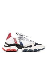 Chaussures de sport blanc et rouge et bleu marine Moncler