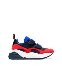 Chaussures de sport blanc et rouge et bleu marine Stella McCartney