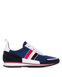 Chaussures de sport blanc et rouge et bleu marine Thom Browne