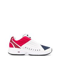 Chaussures de sport blanc et rouge et bleu marine Tommy Jeans