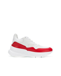 Chaussures de sport blanc et rouge Alexander McQueen