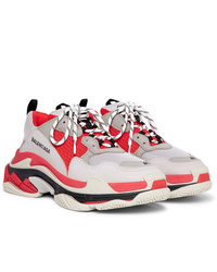 Chaussures de sport blanc et rouge Balenciaga