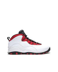 Chaussures de sport blanc et rouge Jordan