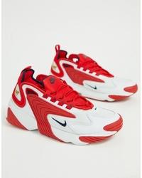 Chaussures de sport blanc et rouge Nike
