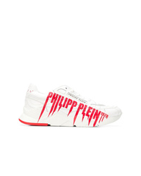 Chaussures de sport blanc et rouge Philipp Plein