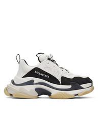 Chaussures de sport blanches et noires Balenciaga