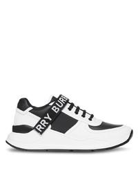 Chaussures de sport blanches et noires Burberry
