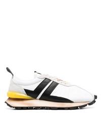 Chaussures de sport blanches et noires Lanvin