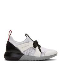 Chaussures de sport blanches et noires Moncler
