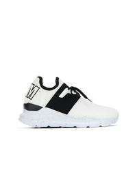 Chaussures de sport blanches et noires MSGM