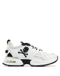 Chaussures de sport blanches et noires Philipp Plein