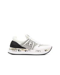 Chaussures de sport blanches et noires White Premiata