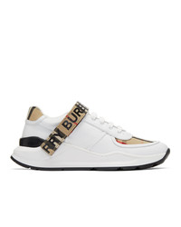 Chaussures de sport blanches Burberry