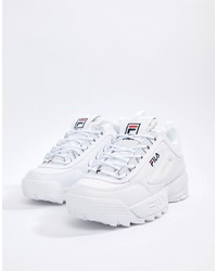 Chaussures de sport blanches Fila