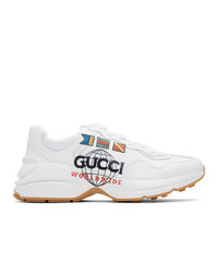 Chaussures de sport blanches Gucci